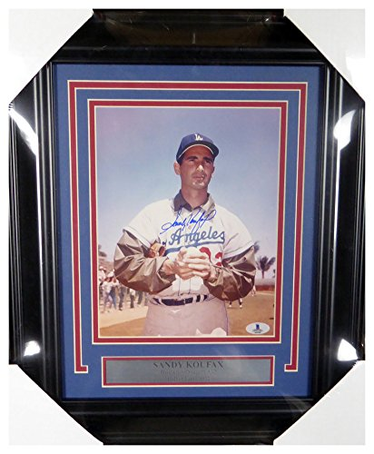(Sandy Koufax Autographed Signed Framed 8x10 Photo Los Angeles Dodgers - Beckett Authentic)