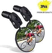 Bike Mirrors for Handlebars 2PCS, Adjustable Rear View Mirror for Bikes, Universal for Road/Mountain/Kids/Ebik