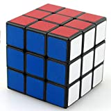 QXKMZ 3X3 Cube Puzzle Toy Cube Carbon Fiber Sticker Glossy Cube 3D Puzzle Gift, Faster and More Accurate;Super Durable, Easy to Rotate, Suitable for Children's Puzzle Cube Toy