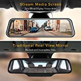 "TOGUARD Mirror Dash Cam, Upgraded 10"" Dual 1080P"