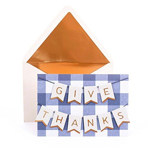 Hallmark Signature Thanksgiving Card (Give Thanks Banner) -