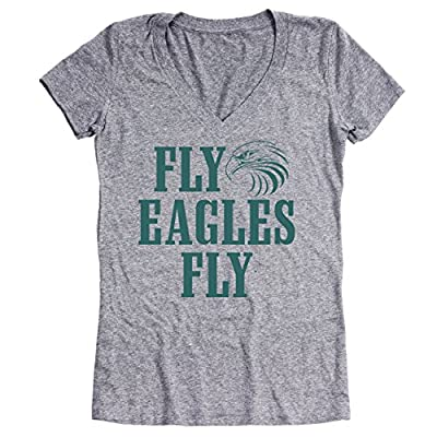 Fly Eagles Fly Philadelphia Super Bowl 2018 Party Tri-Blend Womens V-Neck
