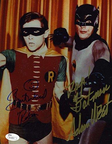 adam-west-burt-ward-jsa-hand-signed-batman-8x10-photo-authenticated-autograph