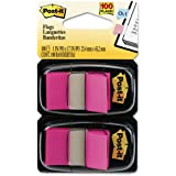Post-it Flags, Bright Pink, 1-Inch Wide, 50/Dispenser, 2-Dispensers/Pack