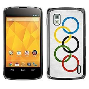 Shell-Star ( National Flag Series-Olympic Flag ) Snap On Hard Protective Case For LG Google NEXUS 4 / Mako / E960