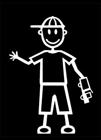 My Stick Figure Family Familie Autoaufkleber Aufkleber Sticker Decal Kleine Jungen Mit Auto Sb1 Auto