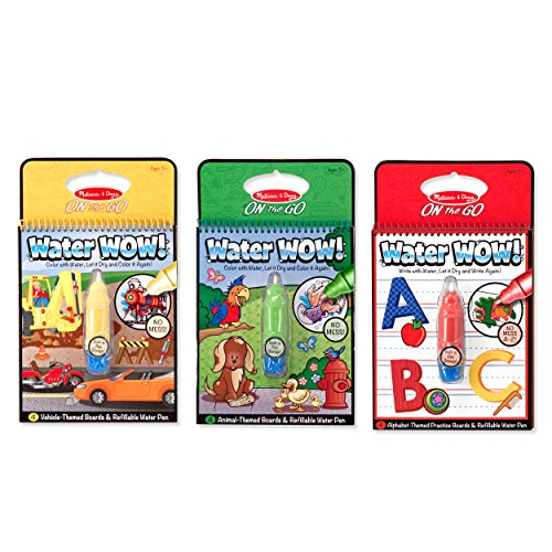 Melissa & Doug On The Go Water Wow Bundle - Vehicles, Animals, and Alphabet