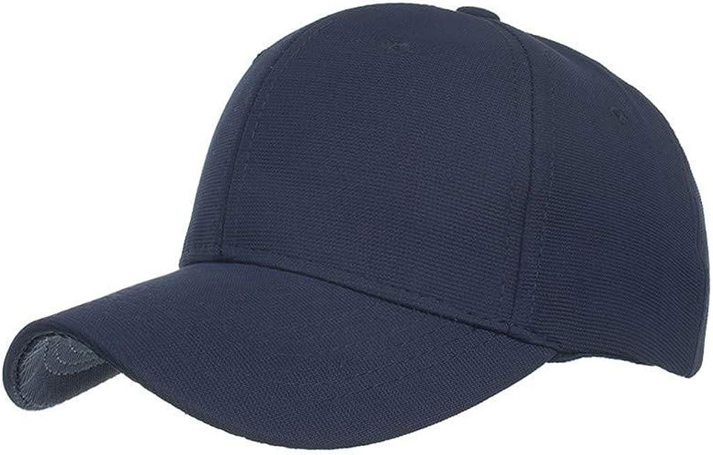 Sport und Reisen VECOLE Run Cap Embroidery Vollfarbig verstellbare Sonnenschirm-Baseballkappe Unisex f/ür Draussen