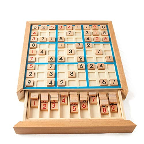 Toys Games Chess Sudoku Chess Digits 1 to 9 Can Only Put Once in Any Row Line and Check Intelligent Fancy Educational Wood Toys Happy Games Gifts Creative Traditional Games Chess
