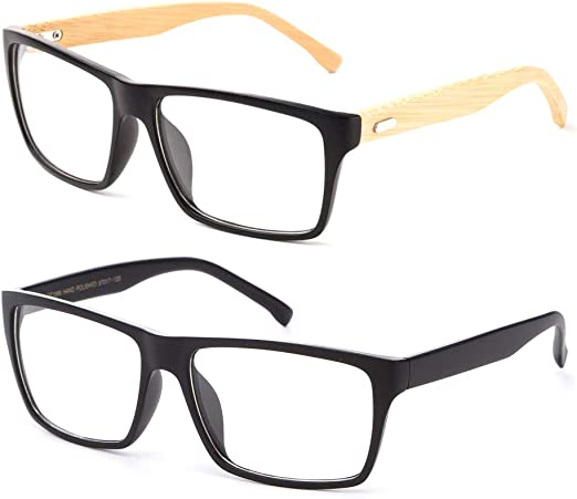 Big Rectangular Transparent Crystal Clear Lens Fashion Classic Eyeglasses Frames