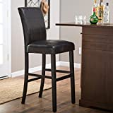 Bistro Counter Bar Stools 34 Inch (Black) height Swivel Wood Chairs Pub Stool Kitchen and Dinningroom Seat Furniture Review