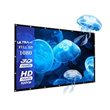 "120 Inch Outdoor PVC Projector Screen, Joyhero 120"" 16:9 4K HD Projector Screen for Outdoor/Indoor Home movie ,Portable and Collapsible Projection Screen.(120"")"