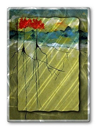 Amazon.com: Ruth Palmer Deep Roots Floral Modern Home Decor Abstract ...