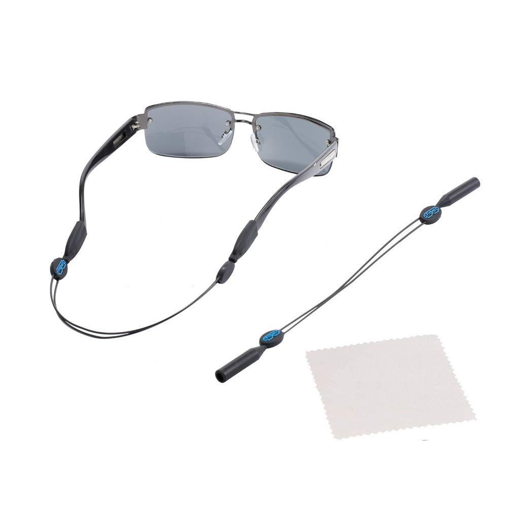 TESHIUCK Adjustable Eyewear Retainer And Anti-Slip Hooks Sports Sunglass Holder Straps 16 inches for Men Women Sport Sunglasses Strap Retainer