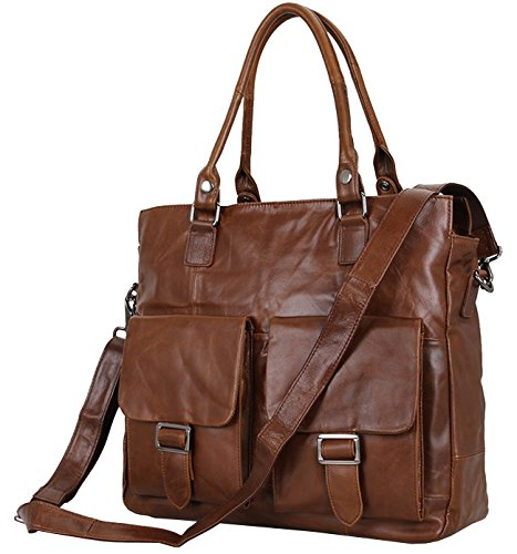 15.6inch Travel Bag, Berchirly Top Layer Real Leather Men Travel Business Luggage Bag Large Handbag -New 2017 by Berchirly