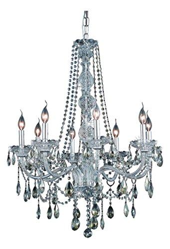 (Elegant Lighting 7958D28C-Gt/Ss Swarovski Elements Smoky Golden Teak Crystal Verona 8-Light, Single-Tier Crystal Chandelier, Finished in Chrome with Smoky Golden Teak Crystals)