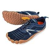 ALEADER Minimalist Running Shoes Mens Barefoot Five Fingers Toe Shoes Navy 12-12.5 M US Men
