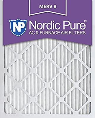 Nordic Pure MERV 8 Pleated AC Furnace Air Filter, Box of 12