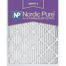 Nordic Pure 16x25x1M8-6 MERV 8 Pleated AC Furnace Air Filter, 16x25x1, Box of 6