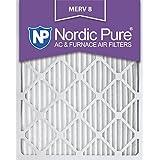 Nordic Pure 16x20x1M8-6 MERV 8 Pleated AC Furnace Air Filter, 16x20x1, Box of 6