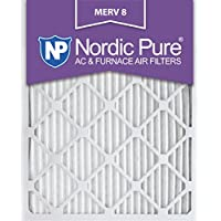 Nordic Pure 16x24x1M8-3 MERV 8 AC Furnace Filter 16x24x1 Merv 8 AC Furnace Filters Qty 3
