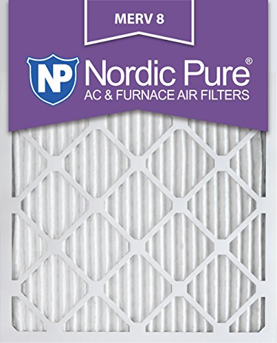 Nordic Pure 16x25x1M8-2 MERV 8 AC Furnace Filter 16x25x1 Pleated Merv 8 AC Furnace Filters Qty 2