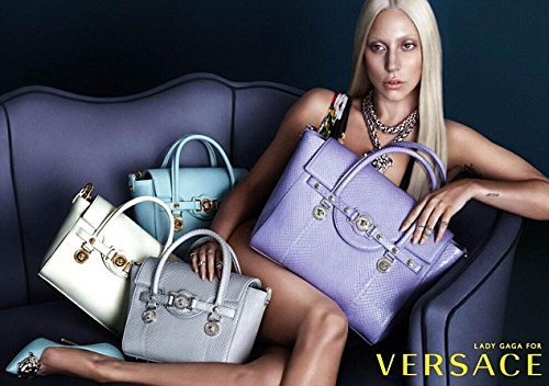 **PRINT AD** With Lady Gaga For 2014 Versace Handbags **PRINT - Versace Gaga
