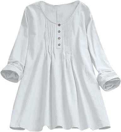 Camisetas Mujer Tallas Grandes Heavy SHOBDW Flojo Ocasional ...