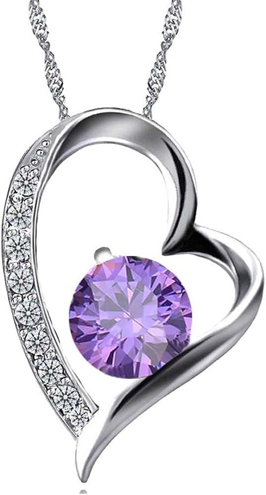 Celebrity Jewellery en forma de corazón collar colgante de cristal para la Mujer
