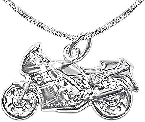 collier argent moto femme