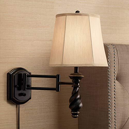 (Kenny Restoration Bronze Swing Arm Wall Lamp - Regency Hill)