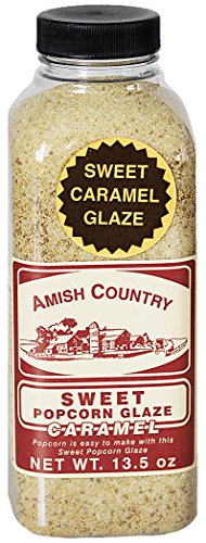 Amish Country Popcorn - Sweet Caramel Glaze (13.5 Ounce) - Great Tasting and Old Fashioned Sweet Treat - with Recipe Guide