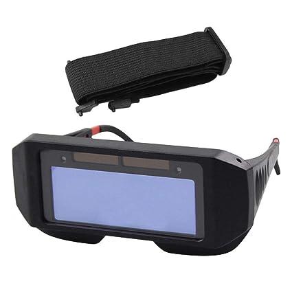 Gafas de Seguridad Solar Auto Oscurecimiento Soldadura Casco Protector de Ojos Gorro de Soldador Gafas (