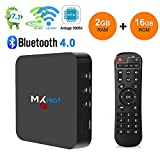 RBSCH MX Pro+ TV BOX Android 7.1 2GB Ram 16GB ROM Amlogic S905 X 5G/2.4G Dual Band WiFi with Bluetooth Ture 4K Playing Quad Core 64bits 2018 Android Box (MX PRO+(2G+16G))