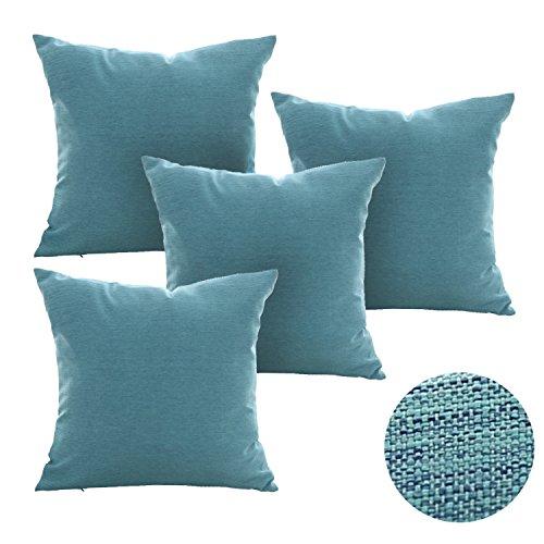Deconovo Pillow Covers Faux Linen Pillow Shams Soft Cushion