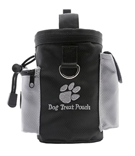 Machao Nylon Professional Quality Dog Treat Training Pouch Carry Snacks and Toys for Pets-Black