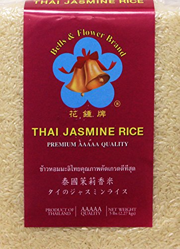 泰国茉莉香米 Thailand Thai Pure Jasmine Rice Premium AAAAA Quality 5 lbs by Bell and Flower