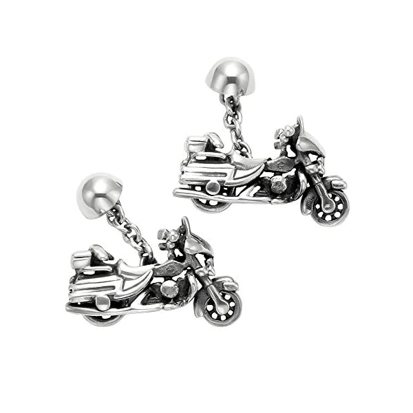Sterling-Silver-Full-Dress-Harley-Motorcycle-Cuff-Links