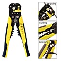 Wire Stripping Tool, ZOTO Self-adjusting Cable Cutter Crimper, Automatic Wire Stripper/ Cutting Pliers Tool for Industry 10-24 AWG Stranded Wire Cutting