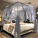 Joyreap 4 Corners Post Canopy Bed Curtain for Girls