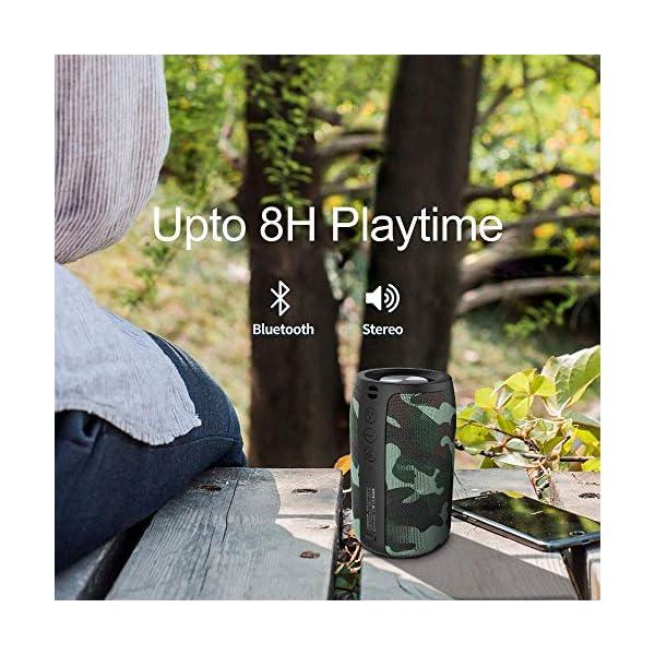 Enceinte Bluetooth Portable, Mini Haut-Parleur Bluetooth Enceinte sans Fil, avec Universel Support, Compatible Android iOS et Autres Appareils, Mains Libres Téléphone, Carte TF Support, Camouflage 5