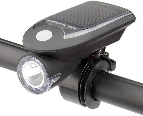 Luz de Bicicleta, Faro Solar Faro de Bicicleta de montaña Luz de ...
