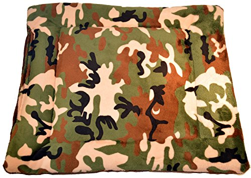 Happy Dog, Happy Home Green Camouflage Crate Pad, Ginormous, 54' x 36'