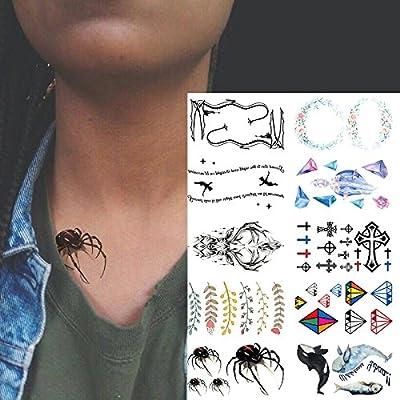 Oottati 10 Hojas Pequeñas Cute Dedo Tatuajes Temporales Guirnalda ...