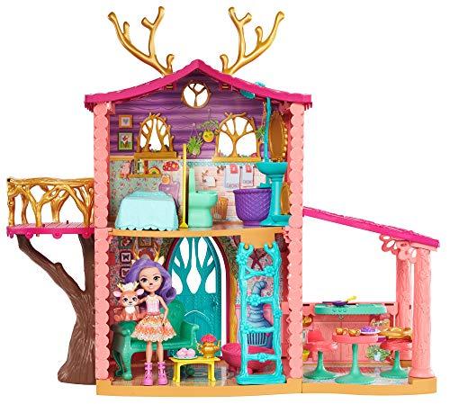 Enchantimals - Supercasa del bosque y muneca Danessa, edad recomendada 4 - 10 anos (Mattel FRH50)