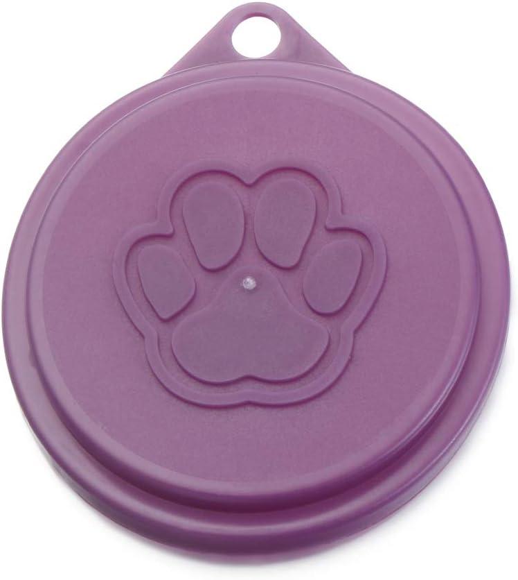 Wulate Pet Food Tin Cover, Box Cover Top Keep Fresh Cans Cap Food Tin Cover Pet Supplies Plastic Lids Pet Supplies(1pc)
