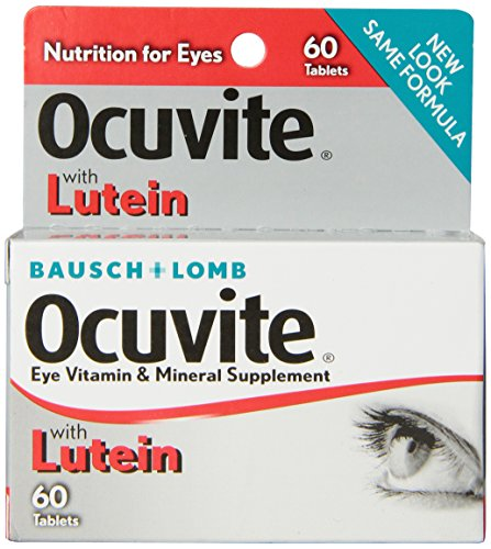 Bausch + Lomb Ocuvite Eye Vitamin and Mineral Supplement with Lutein,  60 - Ocuvite Lutein Vitamins Eye