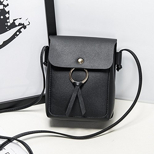 Buckle for Women PU bags Hand Birthday Girls Little Magnetic Black Daliuing Cross with Gifts Shoulder Leather Bag Bag Small qFg7ZR