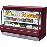 Turbo Air TCDD-72-2-H 72 Curved Glass Refrigerated Bakery Display Case - 21.4 cu. ft.