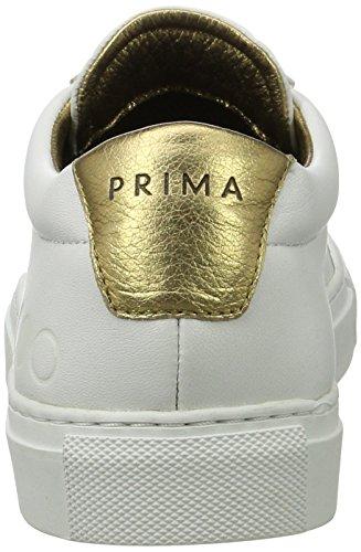 Prima Primaforma, Scarpe da Ginnastica Basse Unisex-Adulto Bianco (White/Gold)